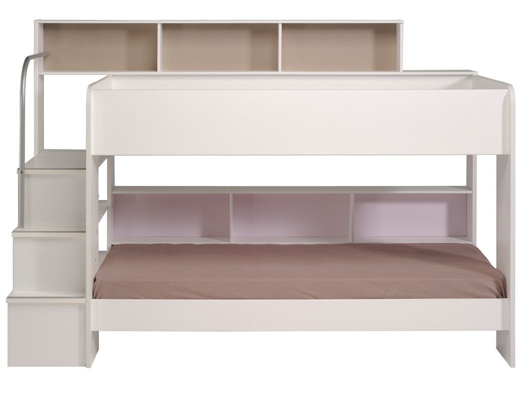 etagenbett hochbett twin 22 wei 245x171x114cm doppelstockbett wohnbereiche schlafzimmer betten. Black Bedroom Furniture Sets. Home Design Ideas