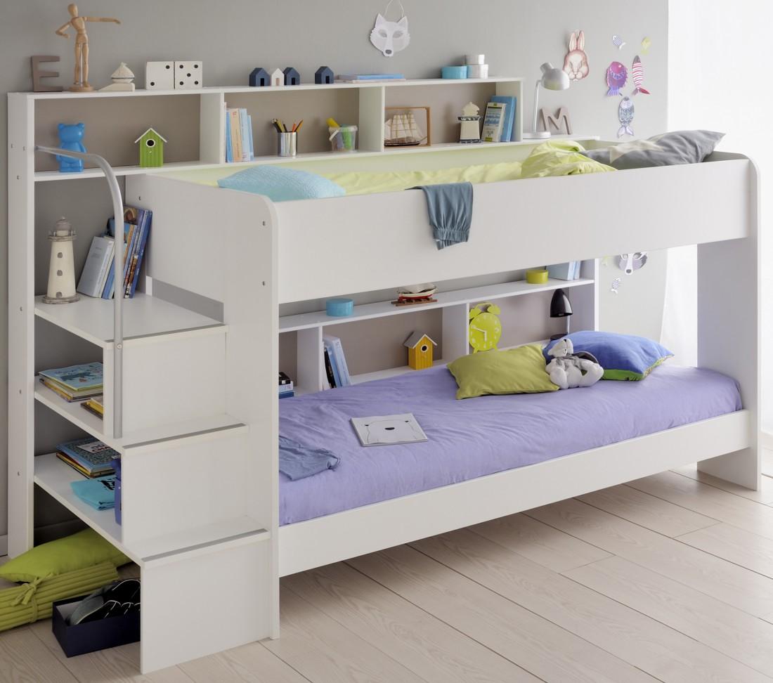 etagenbett hochbett twin 22 wei 245x171x114cm. Black Bedroom Furniture Sets. Home Design Ideas