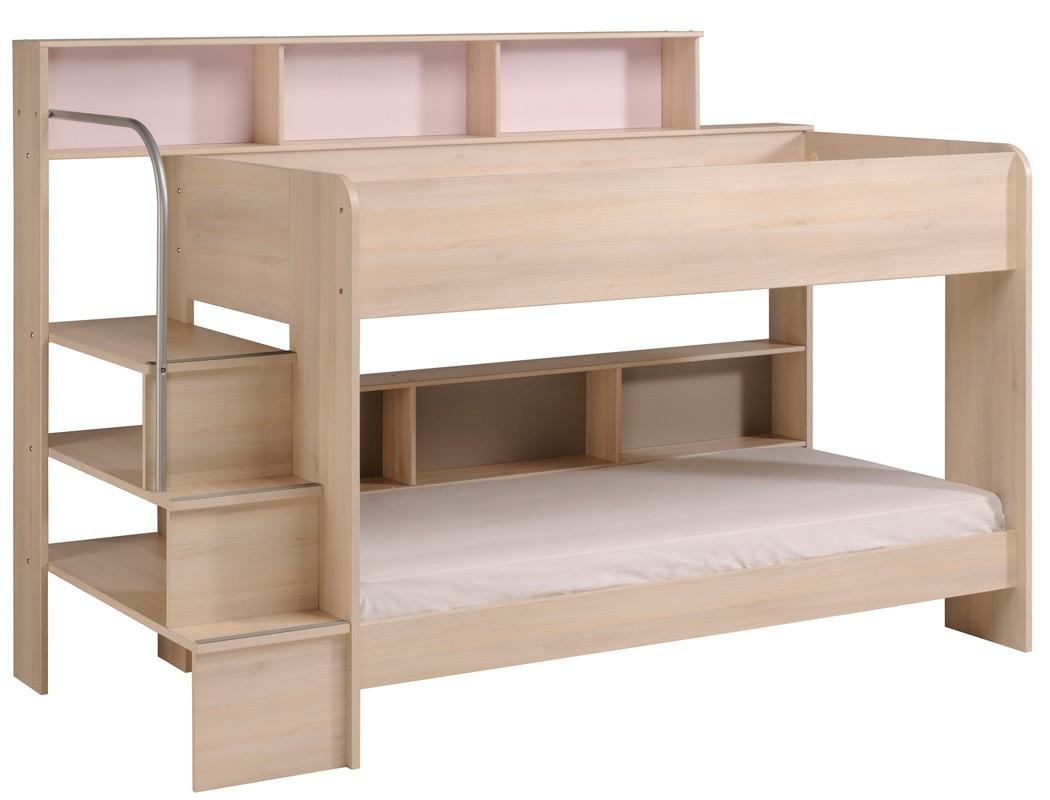 etagenbett hochbett twin 12 akazie nb 245x171x114cm doppelstockbett wohnbereiche schlafzimmer. Black Bedroom Furniture Sets. Home Design Ideas