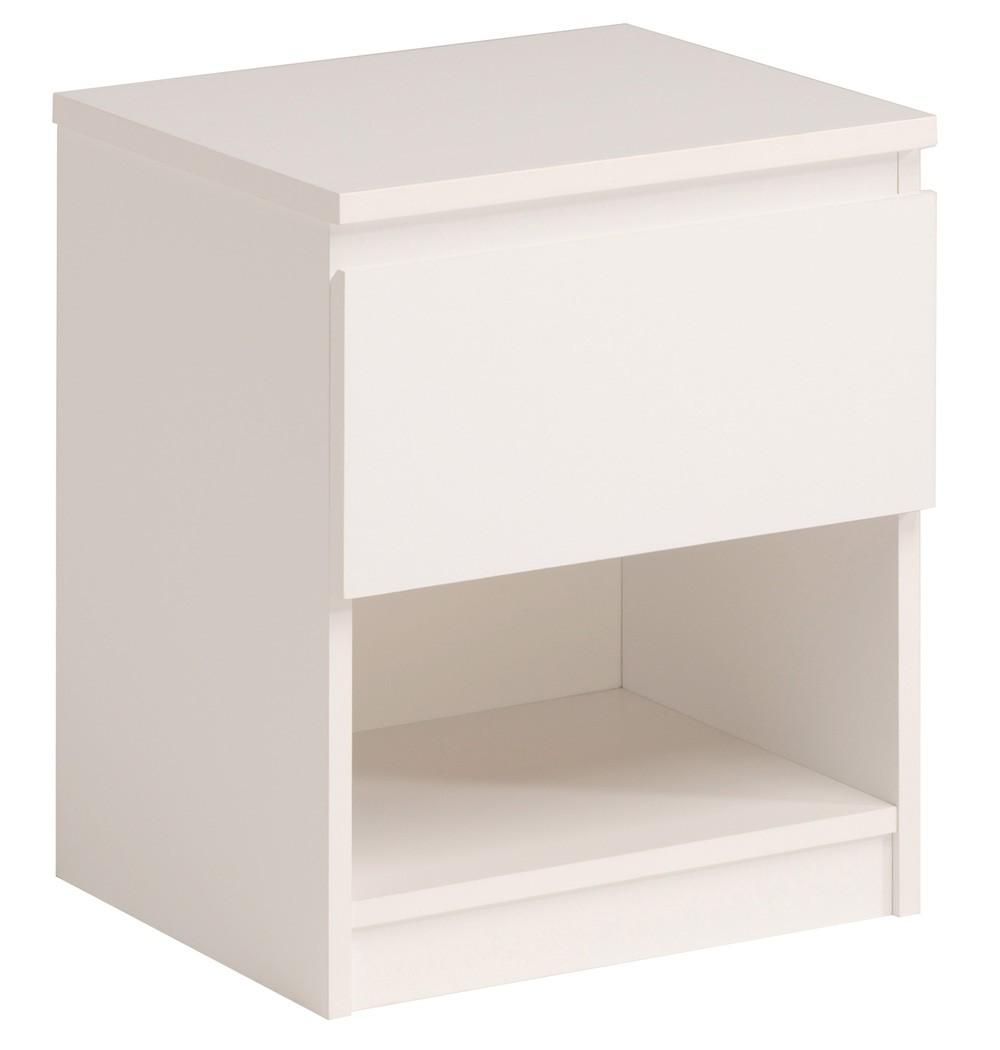 kommode neolie 1 weiss 40x48x33 cm schubkastenkommode nachttisch wohnbereiche schlafzimmer. Black Bedroom Furniture Sets. Home Design Ideas