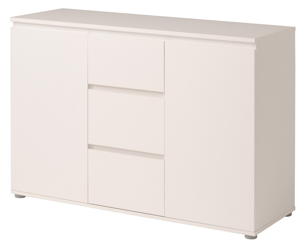kommode weiss 121x82x40 cm schubkastenkommode sideboard schlafzimmer neolie 4 ebay. Black Bedroom Furniture Sets. Home Design Ideas