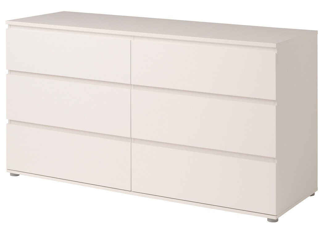 kommode weiss 151x82x50 cm schubkastenkommode sideboard schlafzimmer neolie 6 ebay. Black Bedroom Furniture Sets. Home Design Ideas