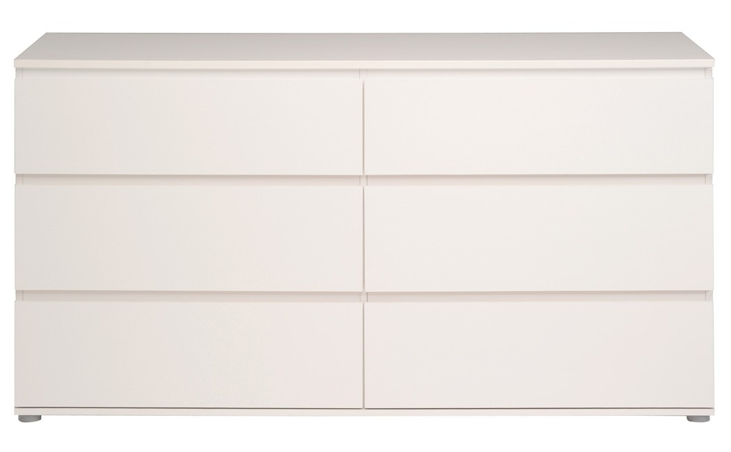kommode weiss 151x82x50 cm schubkastenkommode sideboard schlafzimmer neolie 6 ebay. Black Bedroom Furniture Sets. Home Design Ideas