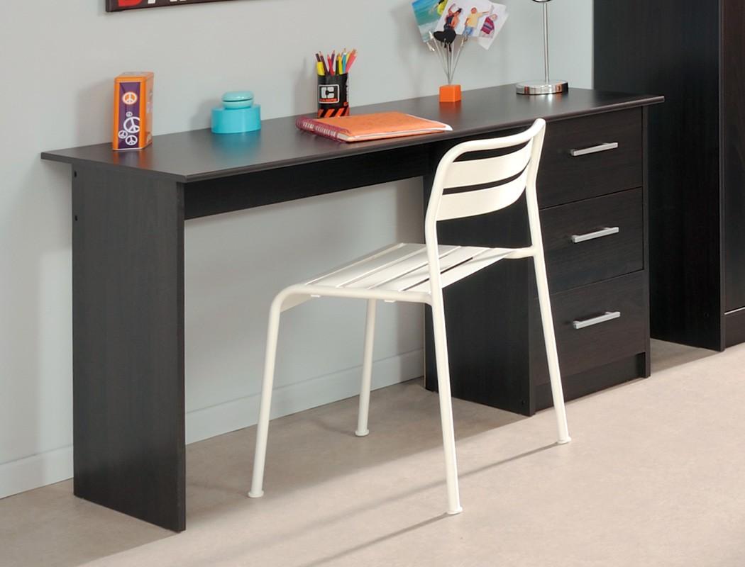 Schreibtisch b rotisch inaco kaffee 121x75x55 cm for Jugendzimmer tisch