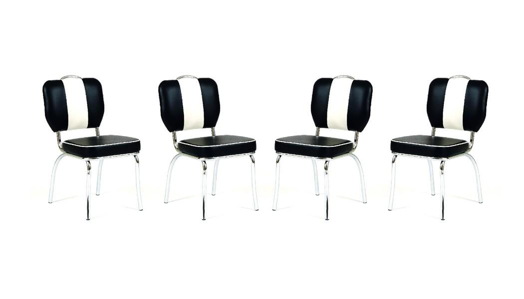 tischgruppe bistrotisch kiki 1 weiss mit 4x stuhl peter schwarz tisch wohnbereiche esszimmer. Black Bedroom Furniture Sets. Home Design Ideas