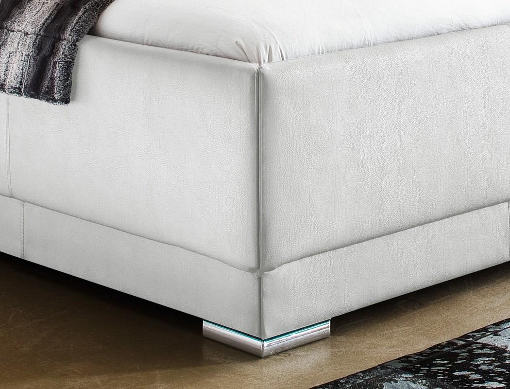 polsterbett solea kunstleder wei boxspring optik. Black Bedroom Furniture Sets. Home Design Ideas