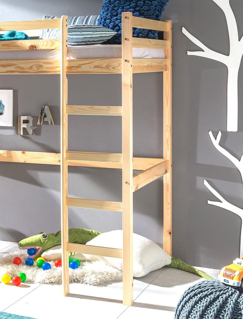 hochbett mit schreibtisch bett 90x200 kiefer ge lt. Black Bedroom Furniture Sets. Home Design Ideas