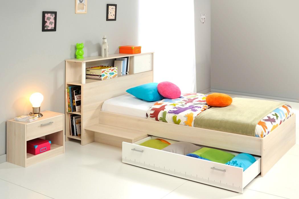 jugendbett bett 90x200 regal nako akazie nb jugendzimmer kinderzimmer chiron 17 ebay. Black Bedroom Furniture Sets. Home Design Ideas
