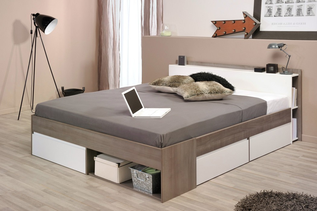 doppelbett bett 160x200 eiche nb ehebett schlafzimmer bettgestell morris 2 ebay. Black Bedroom Furniture Sets. Home Design Ideas