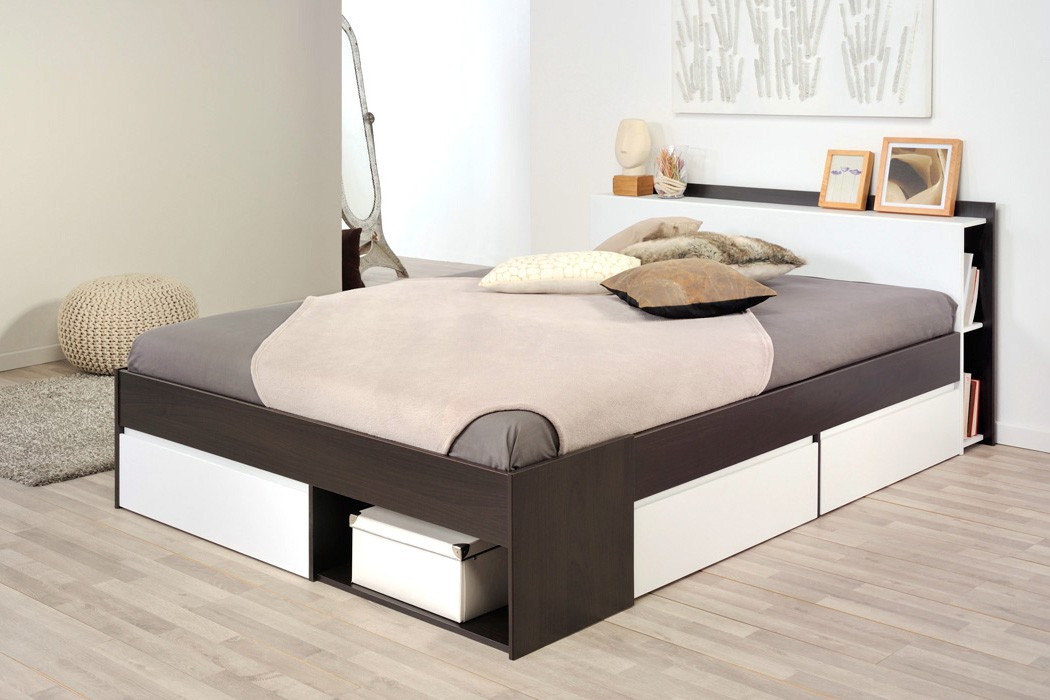 jugendbett bett 140x200 kaffeefarben singlebett g stebett jugendzimmer morris 3 ebay. Black Bedroom Furniture Sets. Home Design Ideas