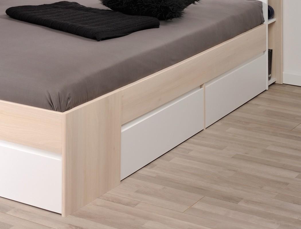 doppelbett morris 6 akazie nb 160x200 ehebett schlafzimmer bettgestell wohnbereiche schlafzimmer. Black Bedroom Furniture Sets. Home Design Ideas