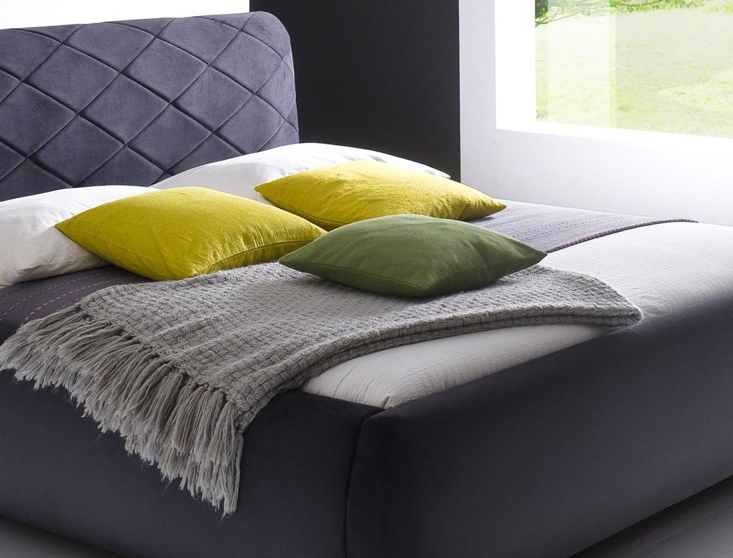 polsterbett antoni bett 180x200 cm anthrazit bezugstoff. Black Bedroom Furniture Sets. Home Design Ideas