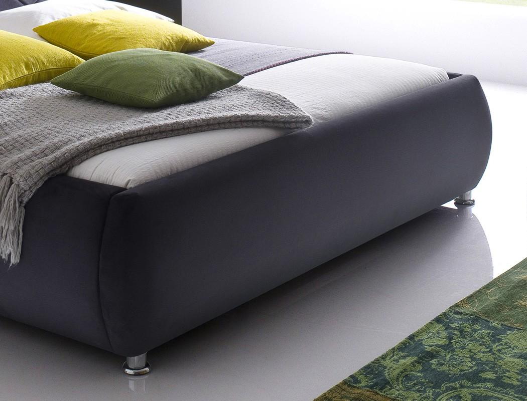 Polsterbett antoni bett 180x200 cm anthrazit bezugstoff for Bett 60 x 180