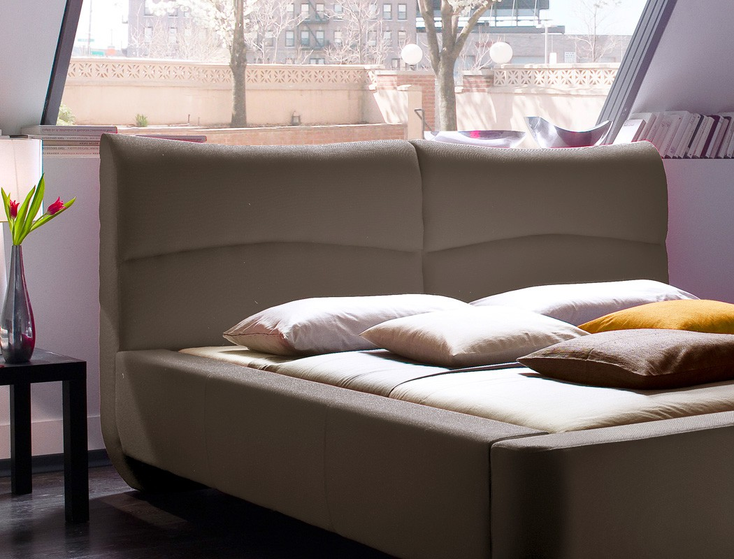 polsterbett cloude bett 160x200 cm stoffbezug cappuccino. Black Bedroom Furniture Sets. Home Design Ideas