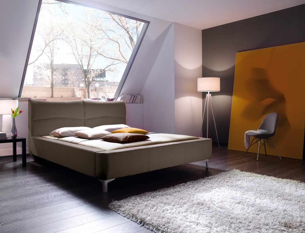 polsterbett cloude bett 160x200 cm stoffbezug cappuccino doppelbett wohnbereiche schlafzimmer. Black Bedroom Furniture Sets. Home Design Ideas