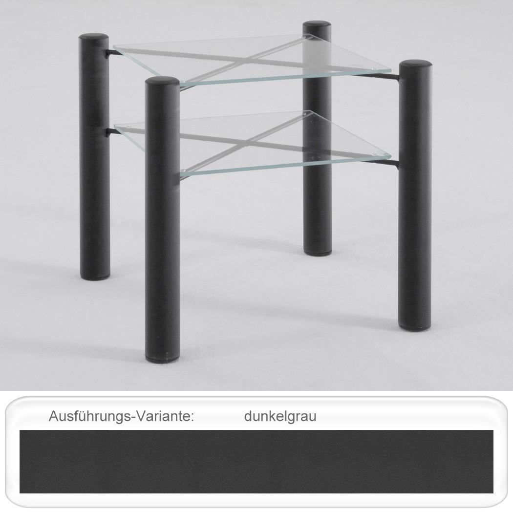 nachttisch fabia 45x43x45 cm metall glas farbe nach wahl. Black Bedroom Furniture Sets. Home Design Ideas