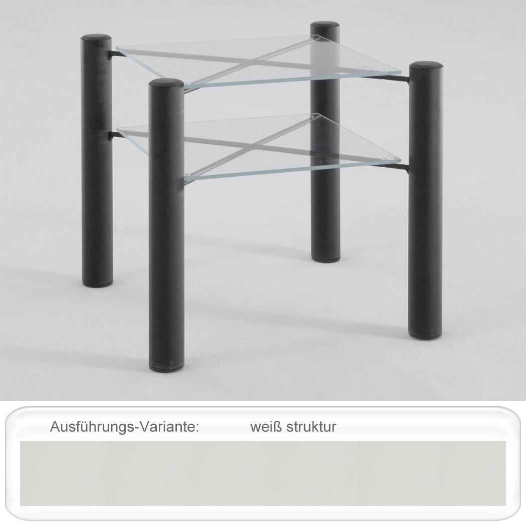 nachttisch fabia 45x43x45 cm metall glas farbe nach wahl nachtkonsole wohnbereiche schlafzimmer. Black Bedroom Furniture Sets. Home Design Ideas