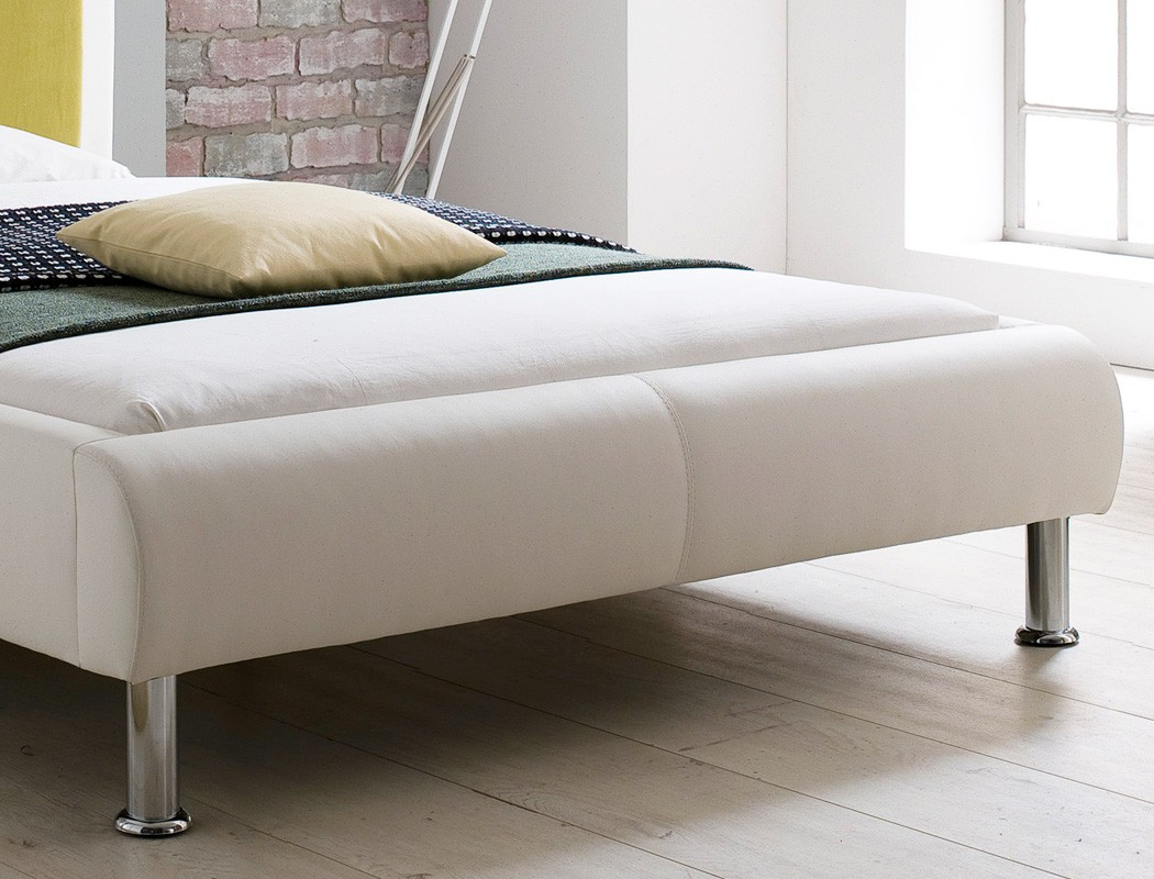 polsterbett bett 120x200 cremewei gr n designerbett singlebett jugendbett falo ebay. Black Bedroom Furniture Sets. Home Design Ideas