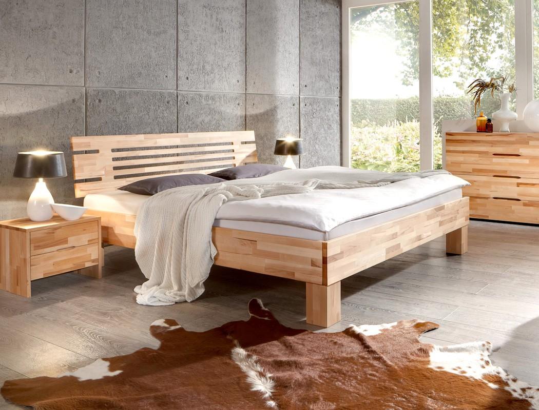massivholzbett visp buche farbe und gr e nach wahl futonbett ehebett wohnbereiche schlafzimmer. Black Bedroom Furniture Sets. Home Design Ideas