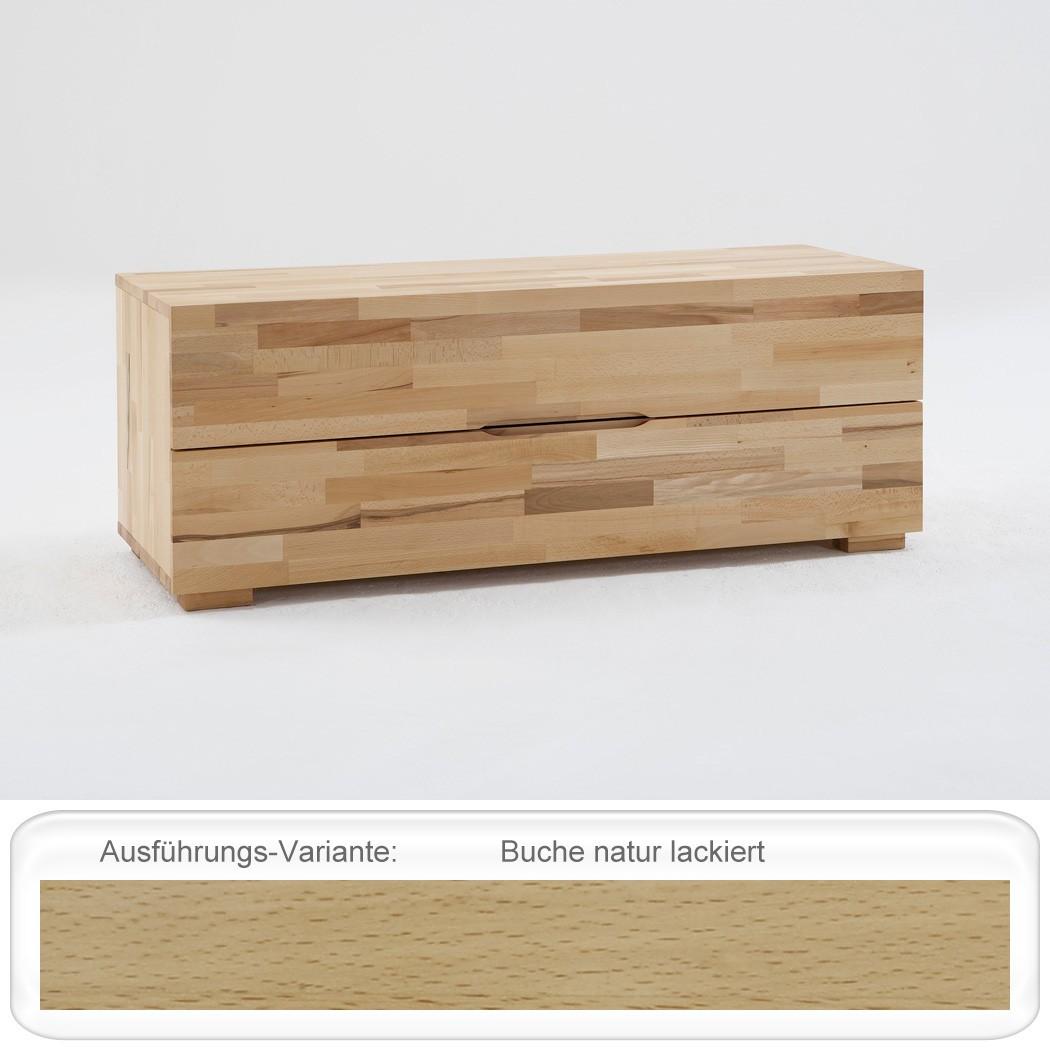 lowboard goms 4 120x45x45 cm buche massiv farbe nach wahl schubkasten wohnbereiche schlafzimmer. Black Bedroom Furniture Sets. Home Design Ideas