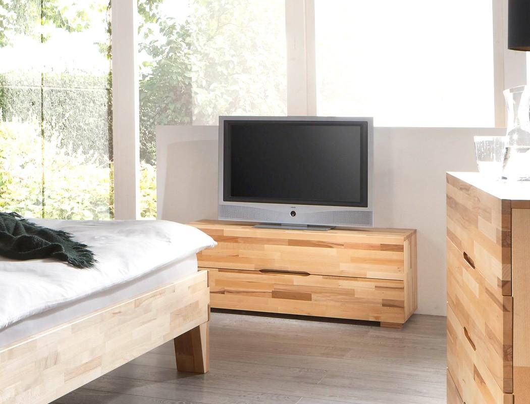 lowboard 120x45x45 buche massiv farbe nach wahl schubkasten schlafzimmer goms 4 ebay. Black Bedroom Furniture Sets. Home Design Ideas
