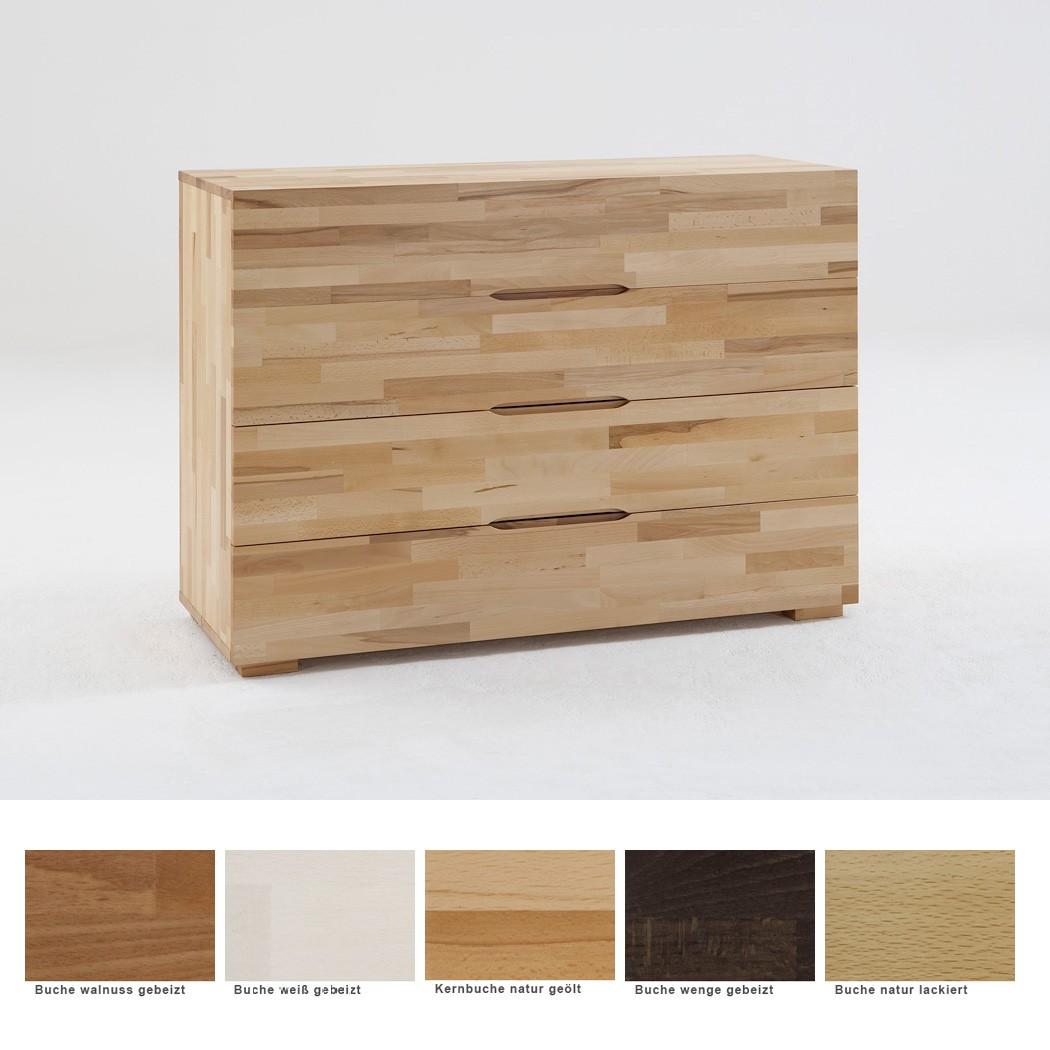kommode goms 5 120x88x45 cm buche massiv farbe nach wahl schubkasten wohnbereiche schlafzimmer. Black Bedroom Furniture Sets. Home Design Ideas