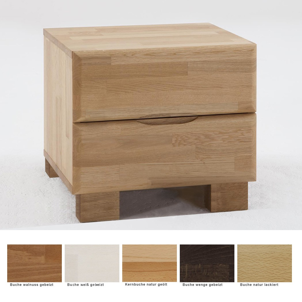 nachttisch blenio 2 comfort 48x47cm buche farbe nach wahl nachtkonsole wohnbereiche schlafzimmer. Black Bedroom Furniture Sets. Home Design Ideas