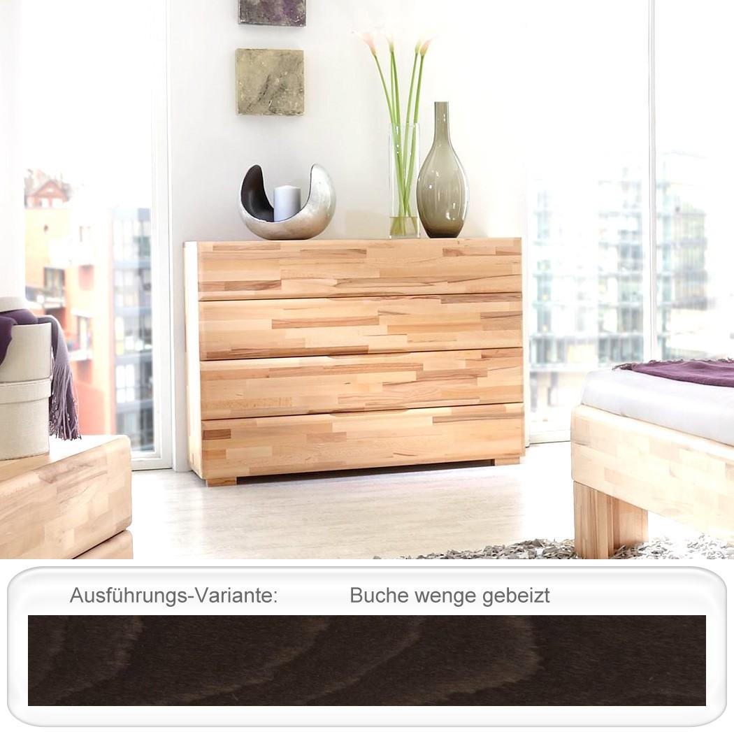 kommode blenio 4 120x88x45 cm buche massiv farbe nach wahl schubkasten wohnbereiche schlafzimmer. Black Bedroom Furniture Sets. Home Design Ideas