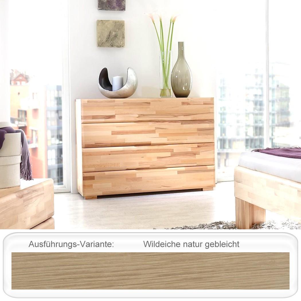 kommode blenio 4 120x88x45 cm eiche massiv farbe nach wahl schubkasten wohnbereiche schlafzimmer. Black Bedroom Furniture Sets. Home Design Ideas