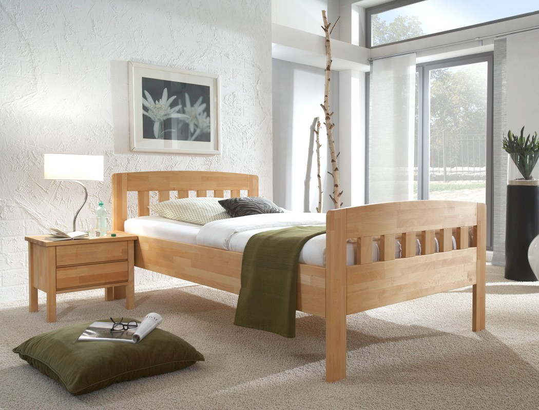 seniorenbett buche holzbett farbe und gr e nach wahl. Black Bedroom Furniture Sets. Home Design Ideas