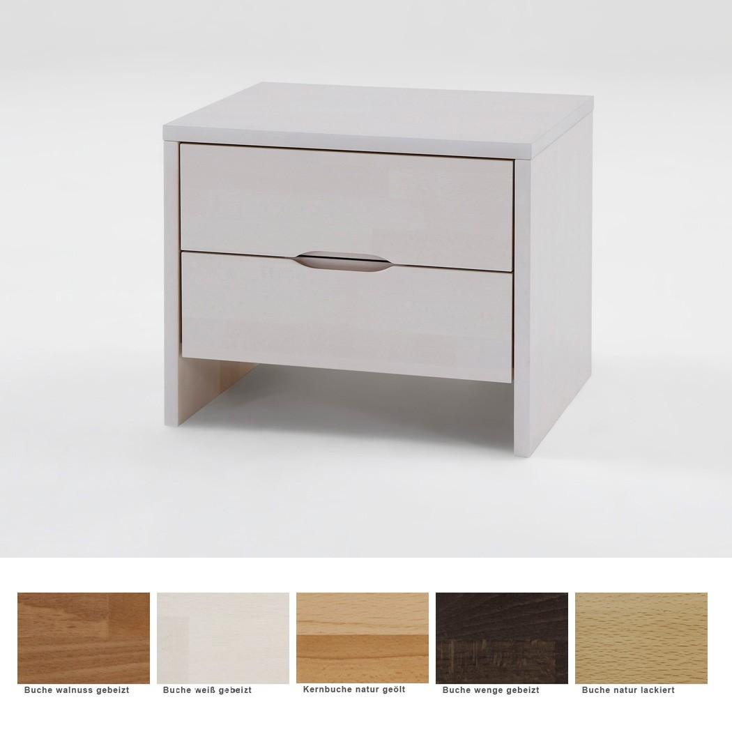 nachttisch gundis 2 comfort 48x47 buche farbe nach wahl nachtkonsole nako ebay. Black Bedroom Furniture Sets. Home Design Ideas