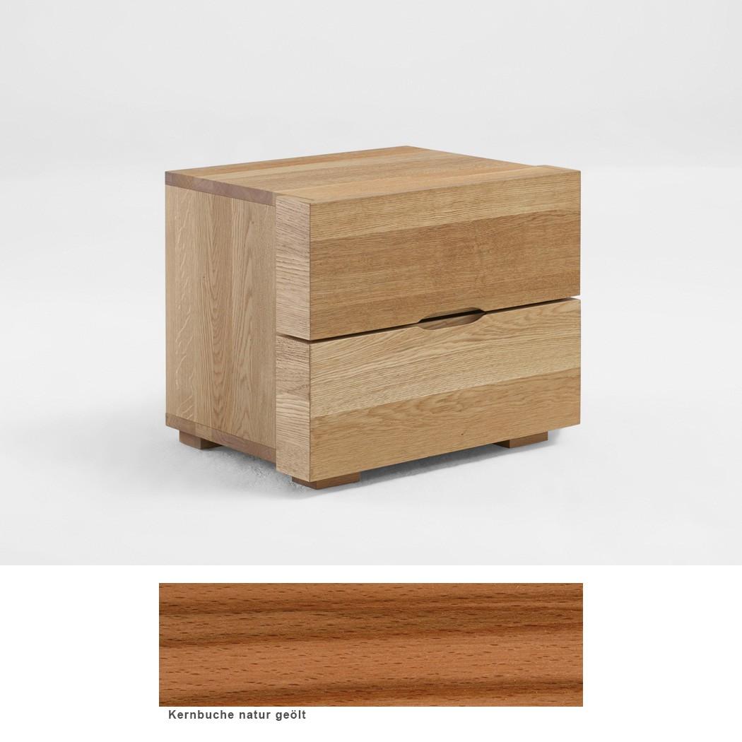 nachttisch jura premium 48x40x40 cm kernbuche massiv nachtkonsole nako wohnbereiche schlafzimmer. Black Bedroom Furniture Sets. Home Design Ideas
