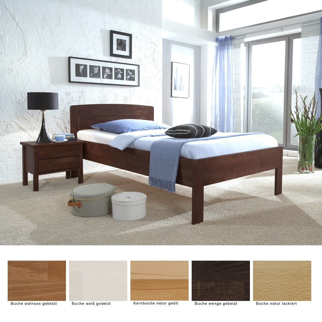 Seniorenbett Nyon Comfort + Nachttisch Buche Varianten Holzbett ...