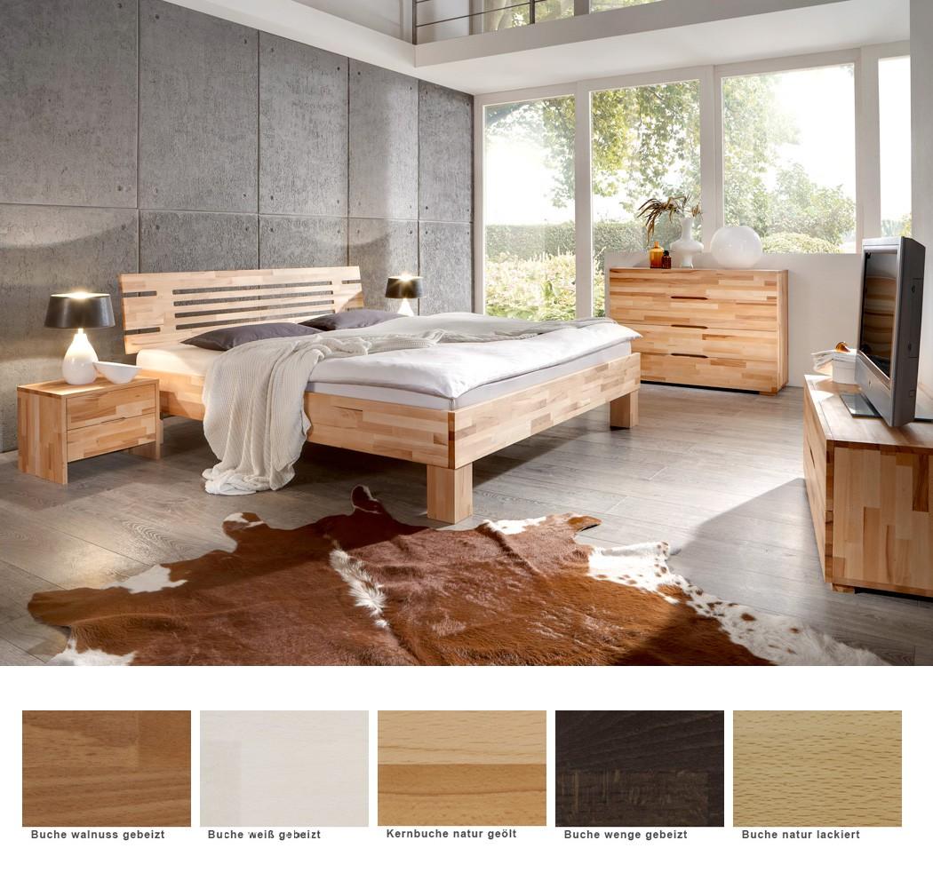 schlafzimmer visp buche massivholzbett kommode lowboard nako wohnbereiche schlafzimmer. Black Bedroom Furniture Sets. Home Design Ideas