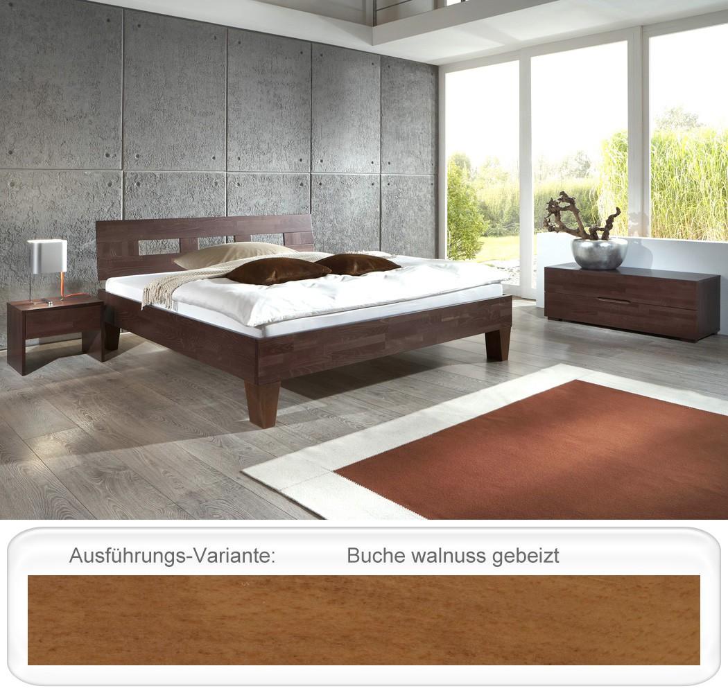 schlafzimmer brig buche massivholzbett lowboard nako futonbett wohnbereiche schlafzimmer. Black Bedroom Furniture Sets. Home Design Ideas