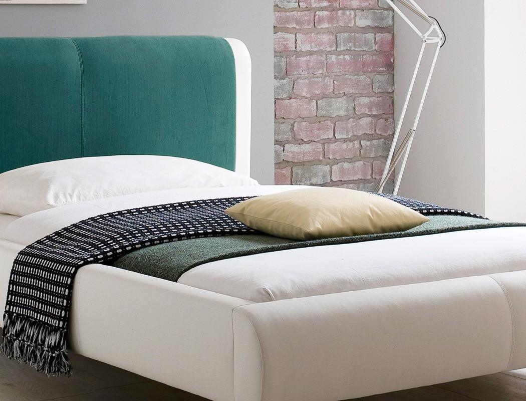 polsterbett falo 140x200 cremewei petrol mit lattenrost matratze singlebett 4251052598656 ebay. Black Bedroom Furniture Sets. Home Design Ideas