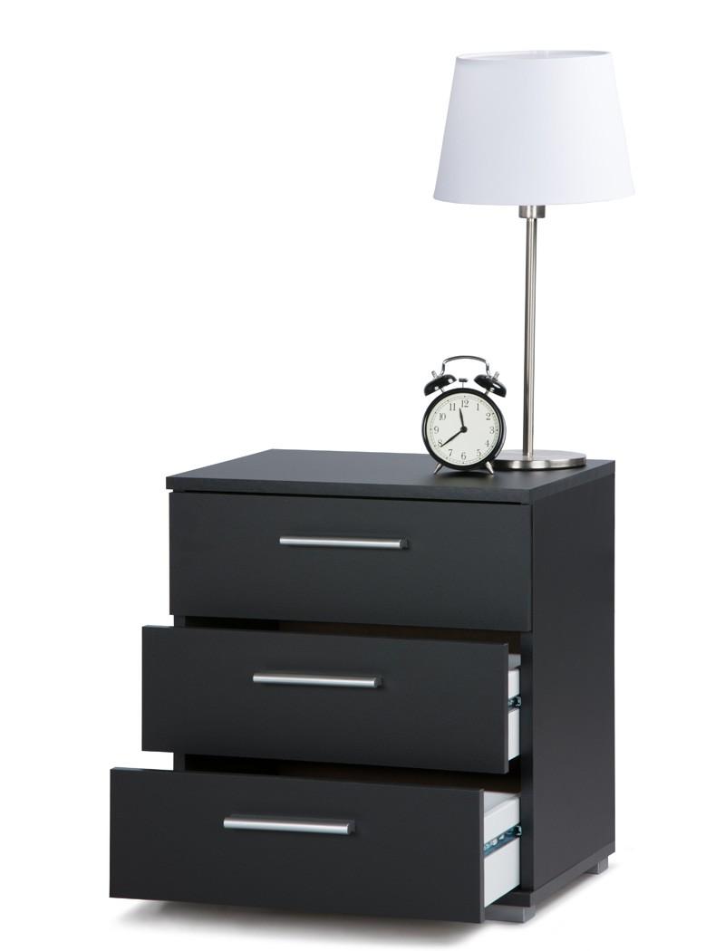 nachttisch elena schwarz modell nach wahl nachtkonsole. Black Bedroom Furniture Sets. Home Design Ideas