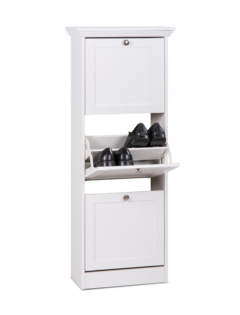 schuhschrank wei 50x130x25 cm schuhkipper wandschuhschrank landstr m 43 ebay. Black Bedroom Furniture Sets. Home Design Ideas