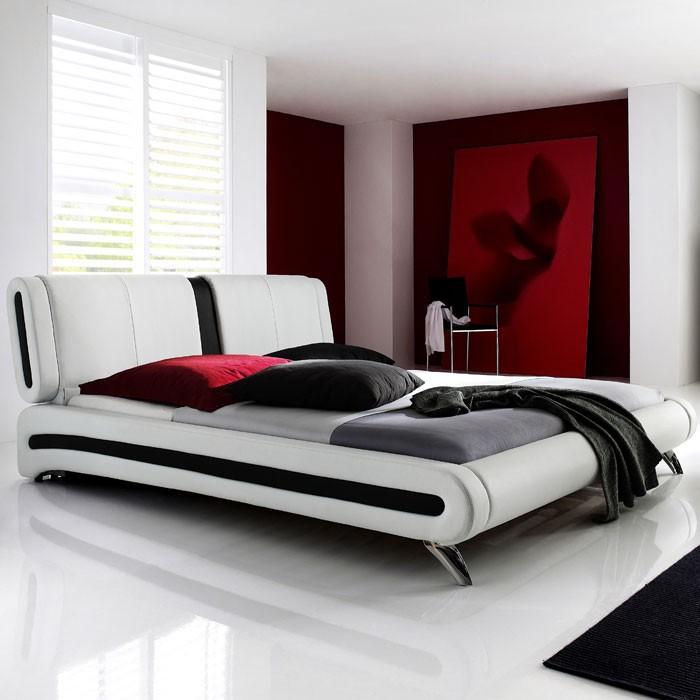 polsterbett malin 140x200 weiss nako flash lattenrost matratze wohnbereiche schlafzimmer. Black Bedroom Furniture Sets. Home Design Ideas