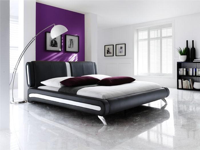 polsterbett malin 140x200 schwarz nachttisch goar lattenrost matratze ebay. Black Bedroom Furniture Sets. Home Design Ideas