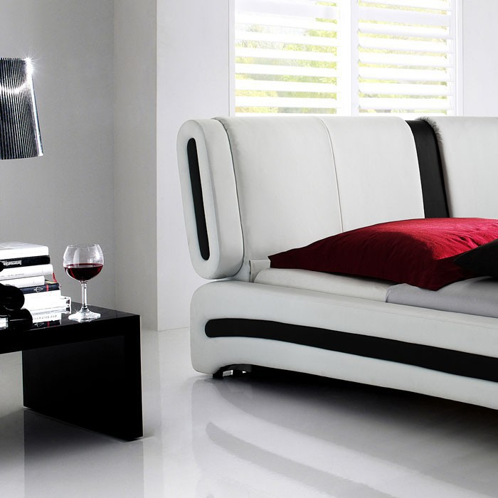 polsterbett malin 140x200 weiss nako goar lattenrost. Black Bedroom Furniture Sets. Home Design Ideas