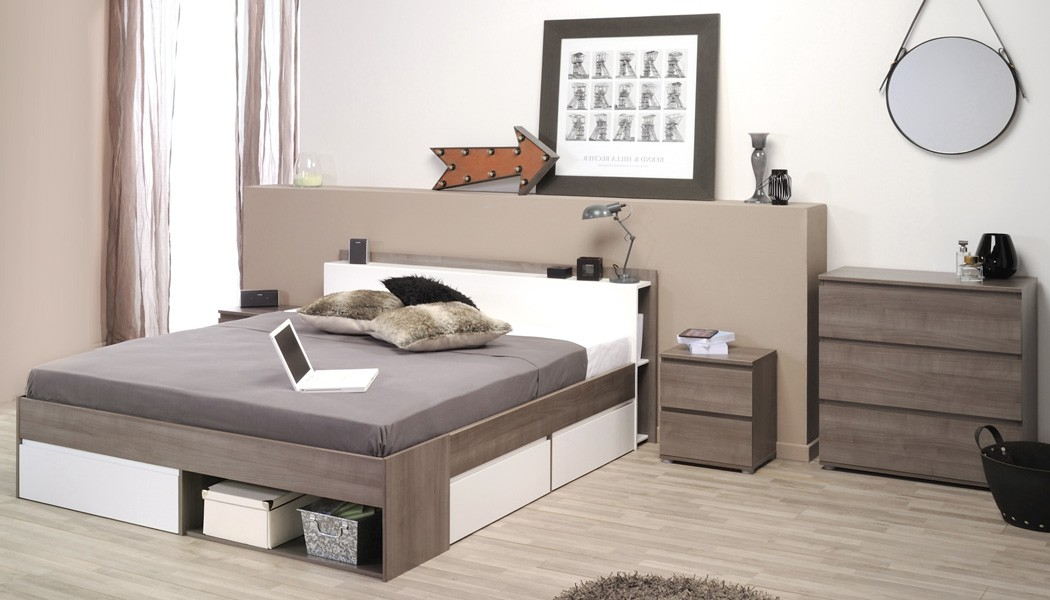 jugendzimmer eiche bett 140x200 kommode nachttisch singlebett morris 17 ebay. Black Bedroom Furniture Sets. Home Design Ideas