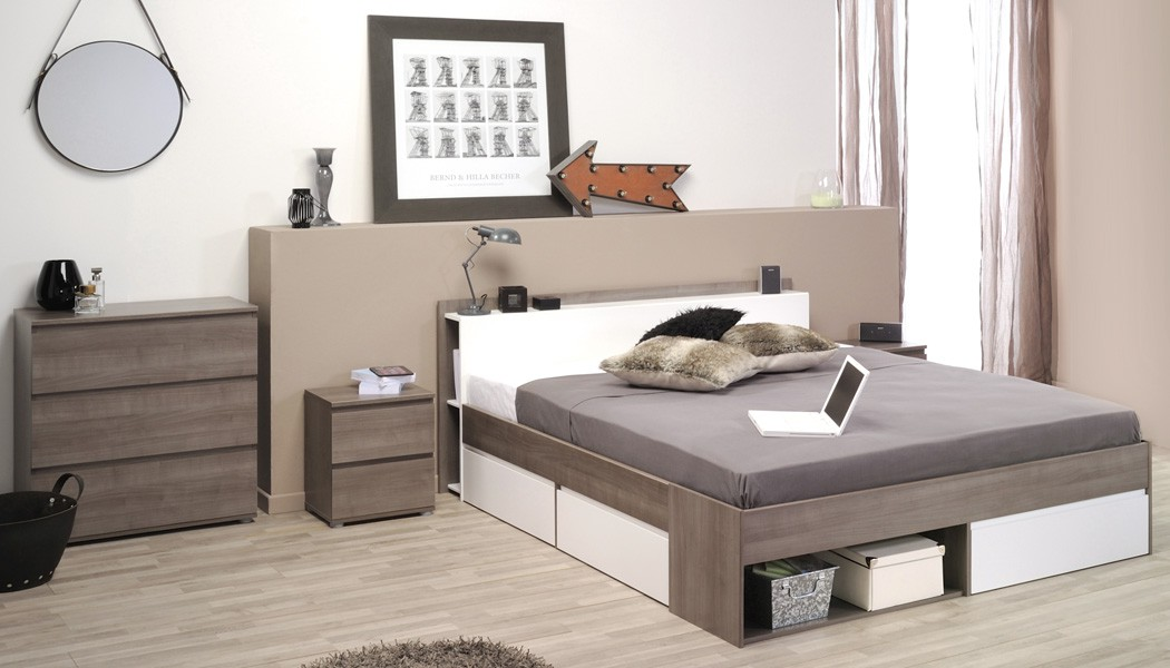 schlafzimmer eiche bett 160x200 kommode nachttisch doppelbett ehebett morris 18. Black Bedroom Furniture Sets. Home Design Ideas