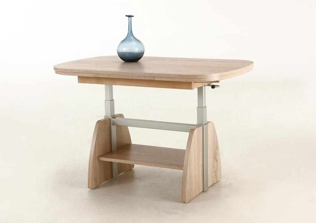 couchtisch carola sonoma eiche 107 156 x67x52 ausziehbar h henverstellbar tisch ebay. Black Bedroom Furniture Sets. Home Design Ideas