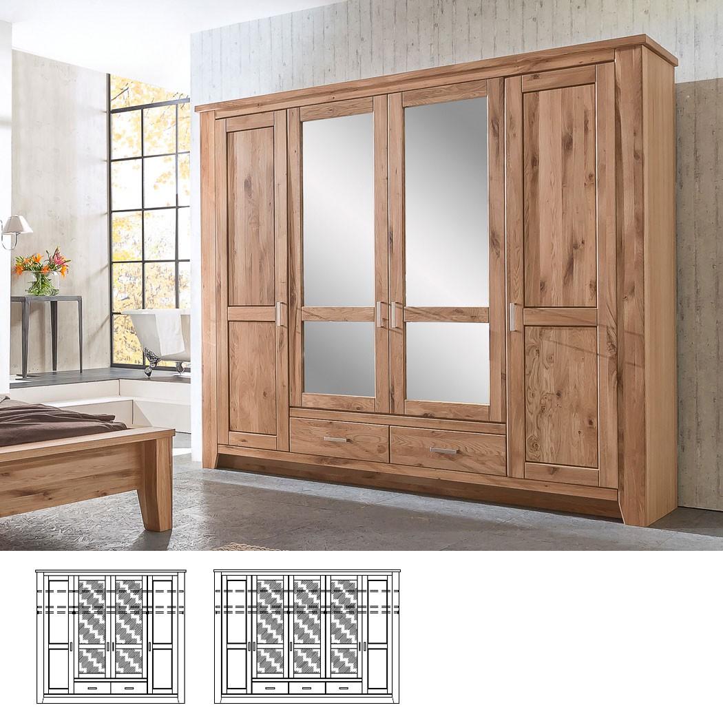 kleiderschrank montreal asteiche breite nach wahl. Black Bedroom Furniture Sets. Home Design Ideas