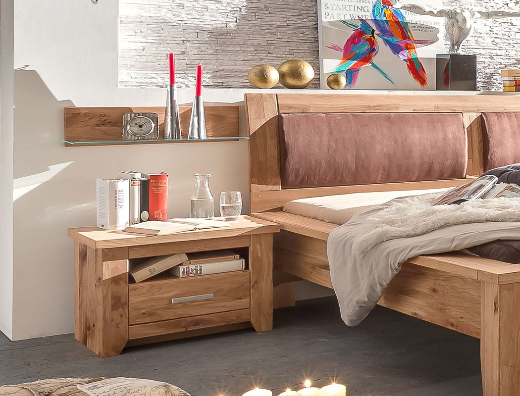 schlafzimmer montreal asteiche ge lt bett 180x200 nako. Black Bedroom Furniture Sets. Home Design Ideas