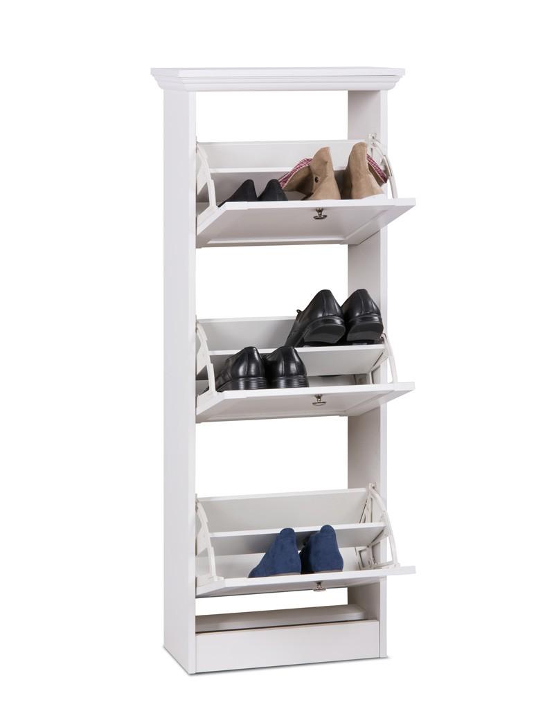 Garderobenset wei sideboard schuhschrank schrank diele for Schuhschrank offen