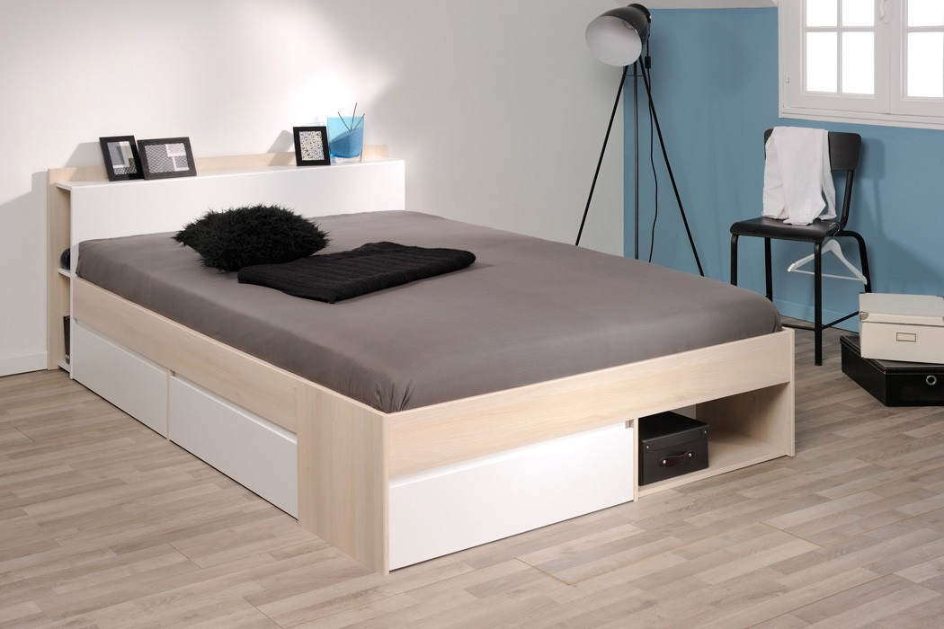 doppelbett morris 6 akazie nb 160x200 lattenrost matratze ehebett bett ebay. Black Bedroom Furniture Sets. Home Design Ideas