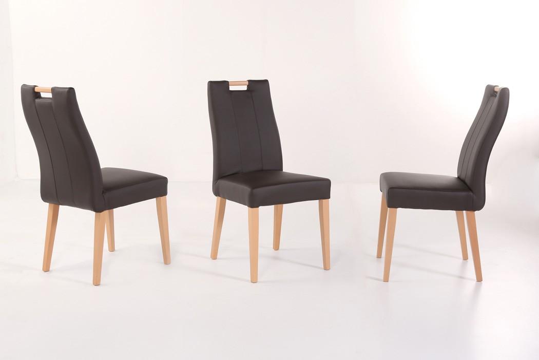 Stuhl joana mit griff polsterstuhl varianten for Stuhl mit armlehne kunstleder