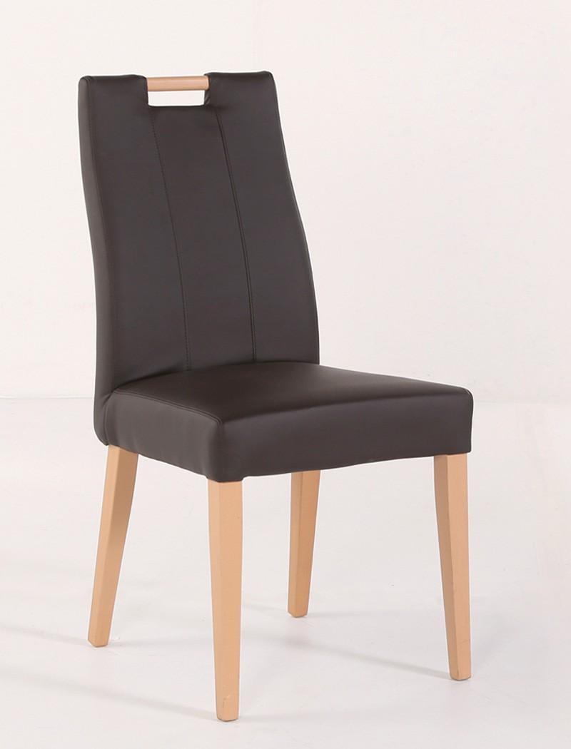 6x Stuhl Joana mit Griff Polsterstuhl Varianten Esszimmer Kunstleder Stühle